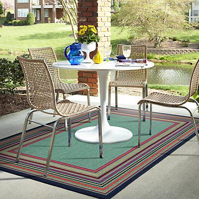 Mohawk® Home Multi Stripe Framed Indoor Outdoor Rug