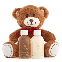 Lila Grace Vanilla Brown Sugar Shower Gel, Body Lotion & Teddy Bear Gift Set