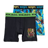 Boys 6-10 Lego Ninajo 2-Pack Boxer Briefs