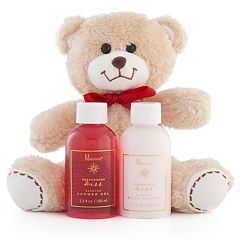 Lila Grace Peppermint Kiss Shower Gel, Body Lotion & Teddy Bear Gift Set