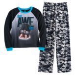 Boys 4-16 Jellifish Knit 2-Piece Pajama Set