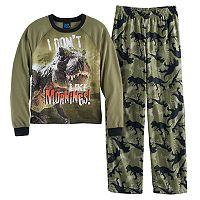 Boys 4-16 Jellifish Knit 2-Piece Pajama Set