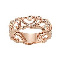 10k Rose Gold 1/4 Carat T.W. Diamond Filigree Ring