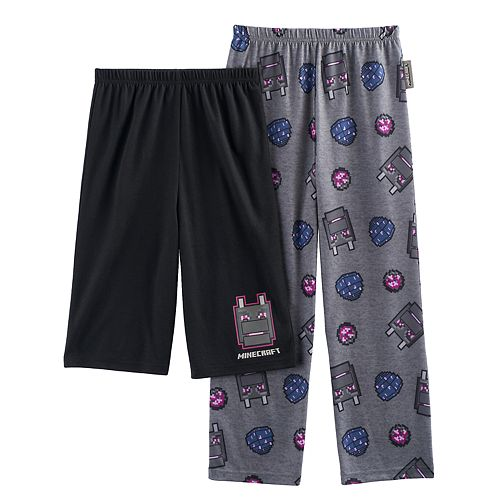 Boys 4-16 Minecraft 2-Pack Lounge Pants & Shorts