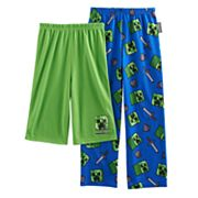 Boys 4-16 Minecraft Creeper 2-Pack Lounge Pants & Shorts