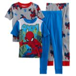 Boys 4-10 Spider-Man Glow-In-The-Dark 4-Piece Pajamas