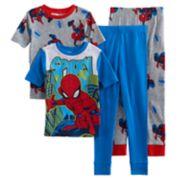 Boys 4-10 Spider-Man Glow-In-The-Dark 4-Piece Pajamas