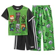 Boys 6-12 Minecraft 3 pc Pajama Set