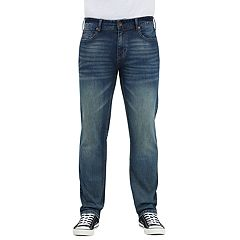 Men's Seven7 Brown Tint Slim-Fit Straight-Leg Jeans