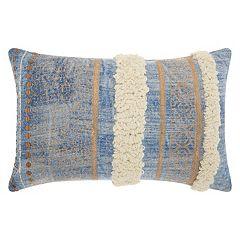 Mina Victory Lifestyles Metallic Texture Boho Oblong Throw Pillow