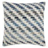 Mina Victory Lifestyles Woven Diagonal Throw Pillow