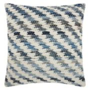 Mina Victory Lifestyles Woven Diagonal Throw Pillow