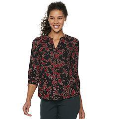 Women's Dana Buchman 3/4 Sleeve Popover