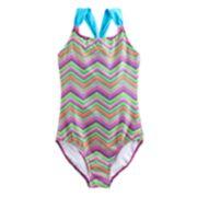 Girls 4-18 & Plus SO® Chevron One-Piece Swimsuit