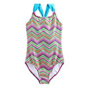 Girls 4-18 & Plus SO® Chevron One-Piece Swimsuit