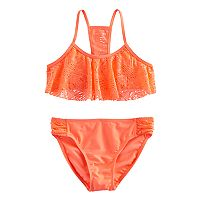 Girls 7-16 SO® Crochet Bikini Top & Bottoms Swimsuit Set