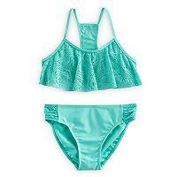 Girls 7-16 SO® Crochet Bikini Top & Bottoms Swimsuit Set