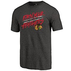 Men's Chicago Blackhawks Earn Your Feathers Tee