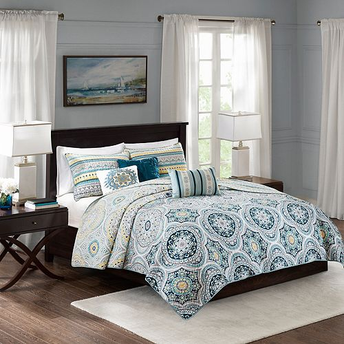 Madison Park 6-piece Delta Reversible Coverlet Set