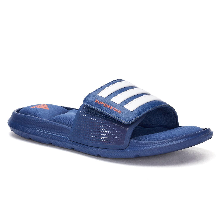 adidas Superstar 3G Men\u0027s Slide Sandals