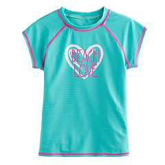 Girls 4-16 SO® Mint 'Beach Love' Rashguard