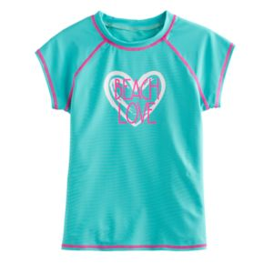 "Girls 4-16 SO® Mint ""Beach Love"" Rashguard"
