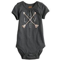Baby Girl Jumping Beans® Picot-Trim Softest Bodysuit