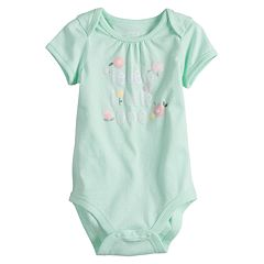 Baby Girl Jumping Beans® Picot-Trim Softest Bodysuit