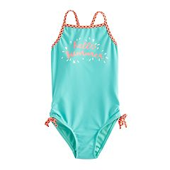 Girls 4-16 SO® 'Hello Summer' One-Piece Swimsuit