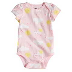 Baby Girl Jumping Beans® Print Softest Bodysuit