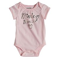 Disney's Minnie Mouse Baby Girl Foiled Graphic Bodysuit by Jumping Beans®