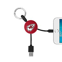 Kansas City Chiefs Keychain Portable Charging Lightning Cable