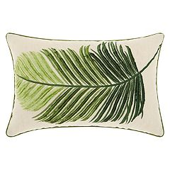 Mina Victory Royal Palm Leaf Oblong Throw Pillow