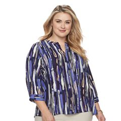 Plus Size Dana Buchman Printed Top