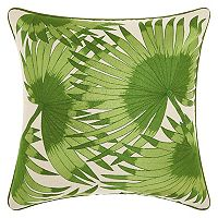 Mina Victory Royal Palm Leaves Throw Pillow