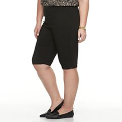 Plus Size Dana Buchman Pull-On Skimmer Shorts