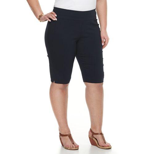 Plus Size Dana Buchman Pull-On Skimmer Shorts