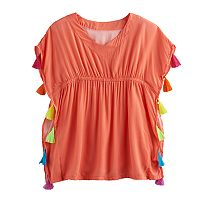 Girls 7-16 SO® Kimono Cover-Up Blouse Pullover