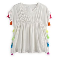 Girls 7-16 SO® Kimono Cover-Up P Blouse ullover