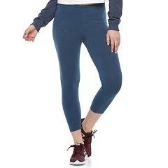 Juniors' SO® Solid Capri Leggings