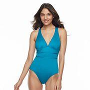 Women's Apt. 9® Tummy Slimmer Strappy One-Piece Swimsuit