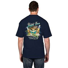 Big & Tall  Men's Newport Blue 'It's Always Happy Hour' Tee