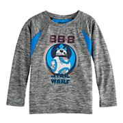 Boys 4-7x Star Wars: Episode VIII The Last Jedi BB-8 Marled Long Sleeve Tee