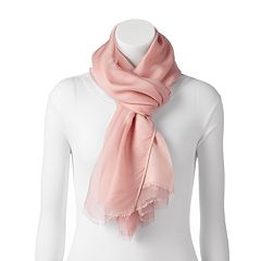 LC Lauren Conrad Double Layer Fringe Oblong Scarf
