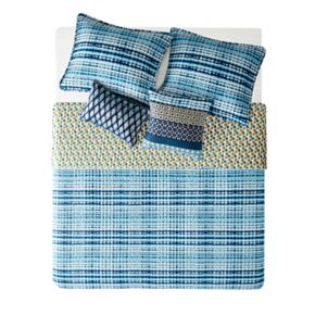 Josie by Natori 5-piece Breeze Reversible Quilt Set