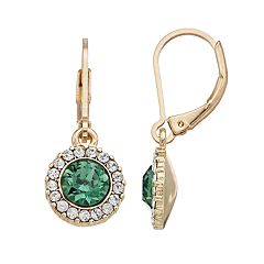 Dana Buchman Round Halo Drop Earrings