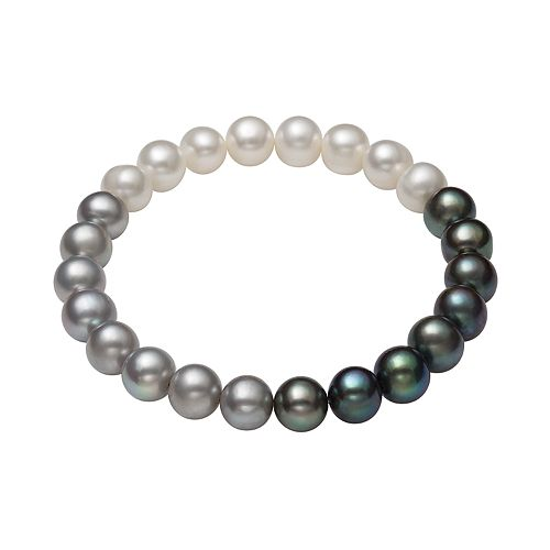 Dyed Freshwater Cultured Pearl Ombre Stretch Bracelet
