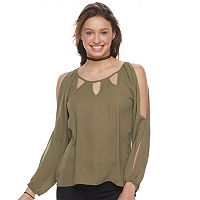 Juniors' Liberty Love Split Sleeve Top