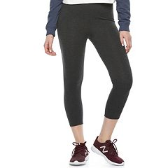 Juniors' SO® Basic Capri High-Waisted Leggings