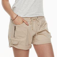 Juniors' Unionbay Christy Convertible Cuffed Midi Shorts